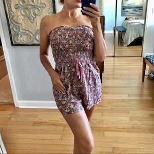 Tilly's Band of Gypsies Floral Strapless Romper